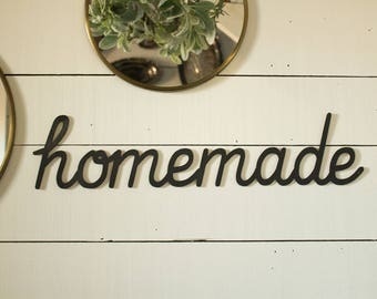homemade Sign | Gallery Wall Sign | Farmhouse Gallery Wall | Farmhouse Kitchen Sign
