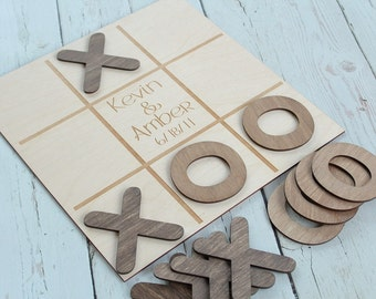 Tic Tac Toe Wedding Game | Custom Wedding Game | Rustic Wedding Games | Game Table