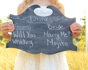 Chalkboard Sign | Pub Style Chalkboard Sign | Wedding Chalkboard Drink Sign | Chalkboard Board Wedding Signs | Rustic Wedding