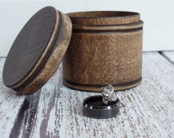 Rustic Wood Ring Box | Ring Bearer Box Alternative | Keepsake Ring Box | Rustic Wedding Ring Box | Free Shipping