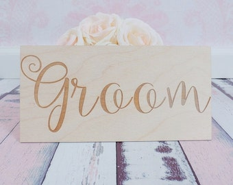 Groom Sign | Groom Chair Sign | Wood Groom Sign | Engraved Groom Sign