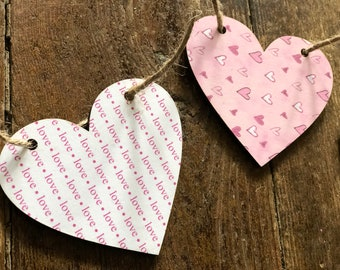 Love Banner | Pink Heart Banner | Farmhouse Valentines Day Decor | Black and White Heart Banner | Photo Prop Banner