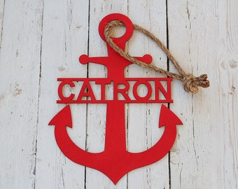 Anchor Door Sign | Last Name Anchor Sign