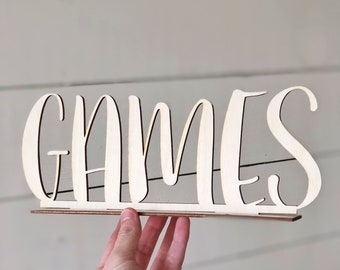 Games Sign | Wedding Games Sign | Wedding Sign | Game Table