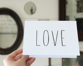 Love Card | Simple Love Greeting Card | Wedding Card | Greeting Card | Thinking of You Card