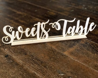Sweets Table Sign Wedding Sign Wedding Sweets Table Sign