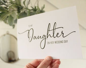 To My Daughter On Her Wedding Day Card