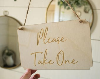 Please Take One Sign | Hanging Please Take One Sign | Free Shipping