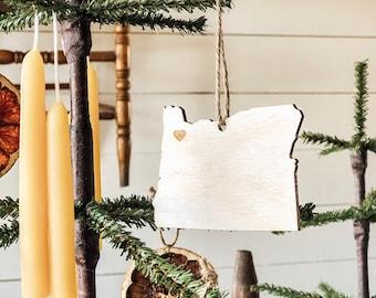 Oregon Ornament | Wood Ornament | Oregon State | State Ornament