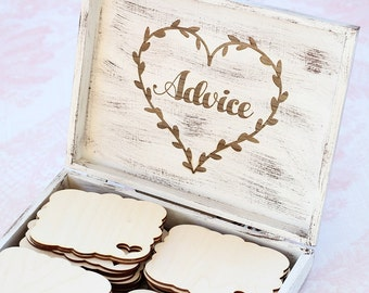 Rustic Advice Box | Wood Advice Box | Advice For The Bride | Advice For The Couple | Rustic Wedding | Rustic Chic Bridal Shower