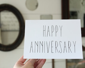 Happy Anniversary Card | Simple Anniversary Greeting Card | Wedding Card | Greeting Card