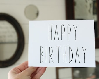 Happy Birthday Card | Simple Birthday Greeting Card | Greeting Card