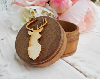 Buck Head Ring Box | Country Wedding | Buck and Doe Wedding Decor | Free Shipping
