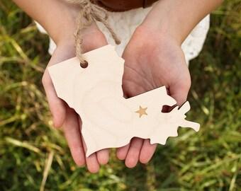 Louisiana Ornament | Wood Ornament | Louisiana State | State Ornament | Free Shipping