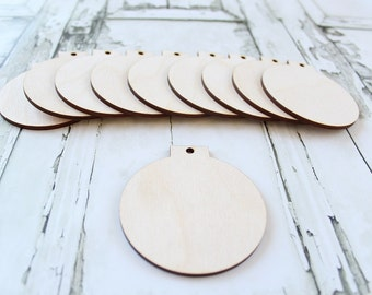 Christmas Bulb Ornaments | Wood Christmas Ornament | DIY Unfinished Wood Ornaments | Make Your Own Ornaments
