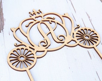 Princess Carriage Cake Topper