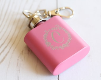 Key Chain Flask Bridal Party Gift Mini Whiskey Flask Bachelorette Party Gift Team Bride