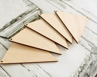 Triangle Banner | Unfinished Wood Banner DIY | Triangle Banner | Rustic Wedding Banner | Bridal Shower Banner | Baby Shower Banner