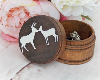 Kissing Buck and Doe Ring Box | Ring Bearer Box Alternative | Keepsake Ring Box | Country Wedding | Free Shipping