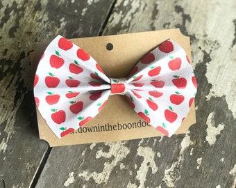 Apple Hair Bow | Back to School School Hair Bow | Hair Accessories | First Day of School
