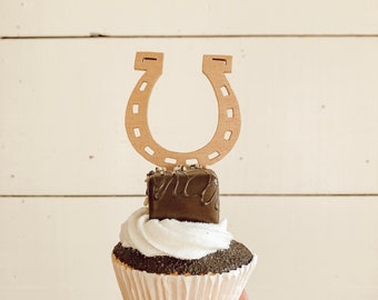 Horseshoe Cupcake Topper | Donut Topper | Equestrian Wedding | Kentucky Durby Theme