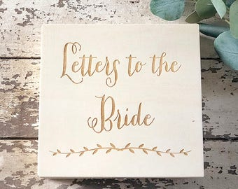 Letters To The Bride Box | Custom Engraved Box | Free Shipping | DownInTheBoondocks