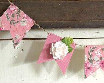 Vintage Nursery | Vintage Floral Nursery | Nursery Banner | Girls Nursery Banner | Farmhouse Nursery | Free Shipping