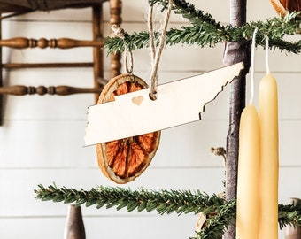 Tennessee Ornament | Wood Ornament | Tennessee State | State Ornament