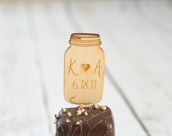 Mason Jar Cupcake Topper | Mason Jar Bridal Shower | Mason Jar Wedding | Cupcake Toppers