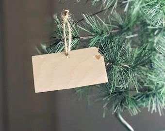 Kansas Ornament | Christmas Ornament | Kansas  State | State Ornament