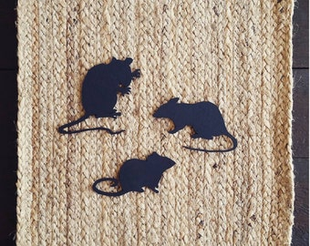 Creepy Mice Halloween Decorations | Rat Decorations | Spooky Halloween Home Decor | Halloween Table Setting