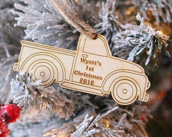 First Christmas Ornament | Vintage Truck Ornament | Baby Boy Ornament | Truck Ornament | Farmhouse Christmas 2019