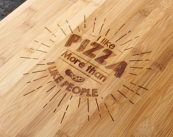 Funny Pizza Board | Bamboo Pizza Board | Engraved Pizza Board | Funny Pizza Board | Food Gift