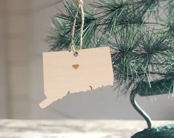Connecticut Ornament | Christmas Ornament | Connecticut State | State Ornament