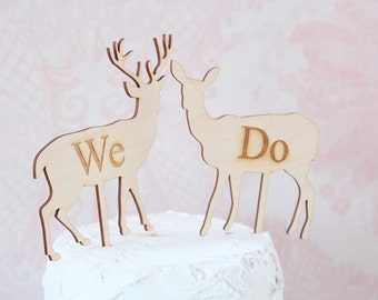 Buck and Doe Wedding Cake Topper