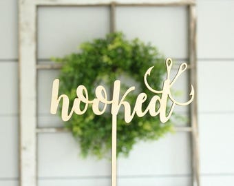 Hooked Cake Topper