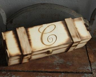Wine Box | Engraved Wine Box | Custom Wine Box | Wedding Wine Box | Rustic Wine Box