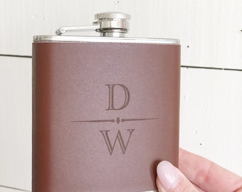 Flask | Engraved Flask | Groomsmen Gifts | Rustic Wedding | Fathers Day Gift | Gifts For Him