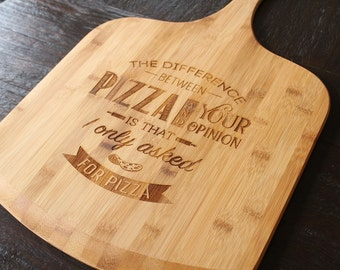 Pizza Board | Bamboo Pizza Board | Engraved Pizza Board | Funny Pizza Board | Pizza Lovers
