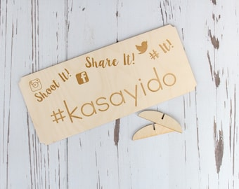 Hashtag Wedding Sign | Social Media Event Sign | Engraved Hashtag Rustic Wedding Sign | Social Media Wedding Sign | Wedding Hashtag Sign