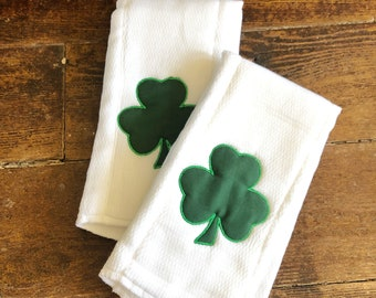 St Patricks Day Burp Cloth | Shamrock Burp Cloth | Green Shamrock Burp Cloth