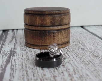 Rustic Wood Ring Box | Ring Bearer Box | Alternative Keepsake Ring Box | Rustic Wedding Ring Box | Free Shipping