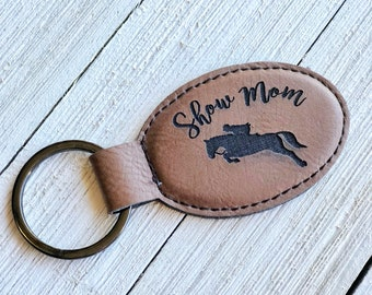 Hunter Show Mom Keychain | Horse Jumping Key Chain | Horse Show Mom Keychain | Mothers Day Gift