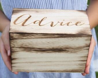 Advice Box | Rustic Advice Box | Bridal Shower Gift | Bride Advice Box | Groom Advice Box | Advice For The Couple Box