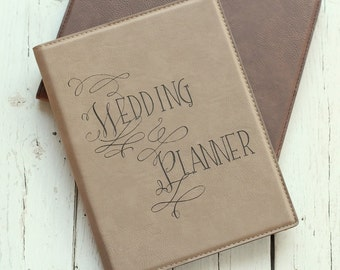 Wedding Planner Portfolio with Notepad | Event Planner Portfolio | Engagement Party Gift | Leather Portfolio