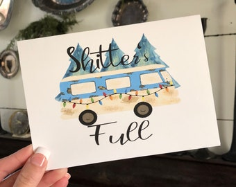 Funny Christmas Card | Christmas Greeting Card | Farmhouse Christmas