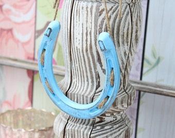 Something Blue Wedding Gift | Baby Boy Nursery Decor | Horseshoe Decor | Rustic Chic Wedding | Wedding Decor