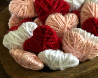 Farmhouse Valentines Day Decor | Yarn Hearts | Valentines Day Decor | Free Shipping