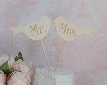 Love Birds Cake Topper | Mr and Mrs Love Birds Cake Topper | Rustic Wedding Cake Topper | Mr Love Bird Mrs Love Bird Wedding Cake Topper
