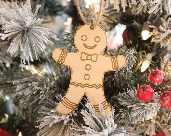 Gingerbread Ornament | Rustic Christmas Farmhouse | GingerBread Man